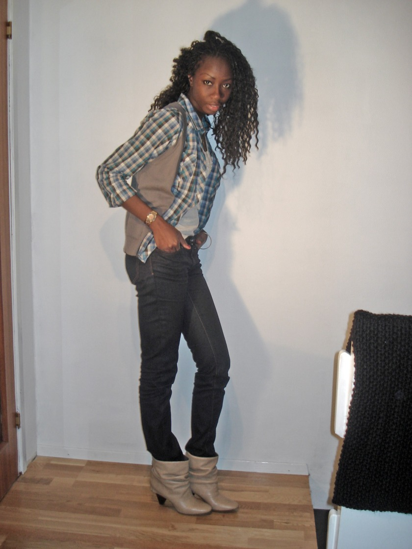 //Gilet Edeis pour la Redoute // Low boots Zara//