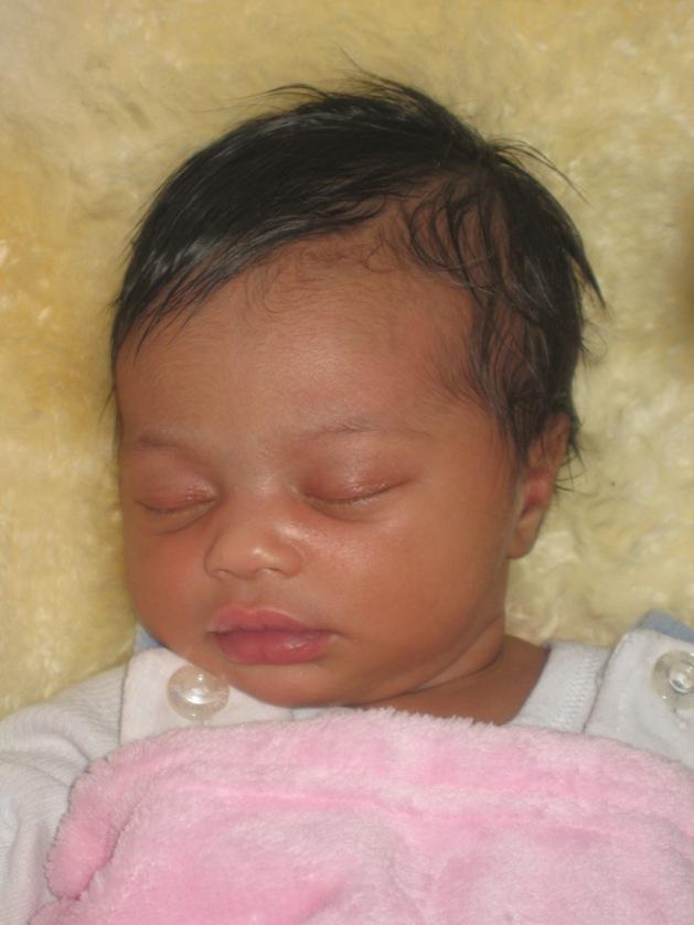 Amayah Marie, 7 jours, ange d'amour de papa et maman